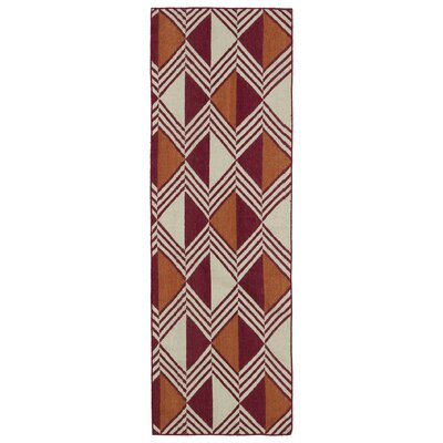 Cory Red Geometric Area Rug Rug Size: Runner 26 x 8