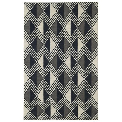 Cory Black Geometric Area Rug Rug Size: Rectangle 9 x 12