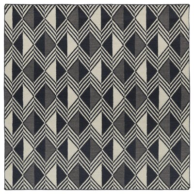 Cory Black Geometric Area Rug Rug Size: Square 8