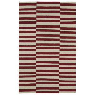 Cory Red/Tan Geometric Area Rug Rug Size: 9 x 12