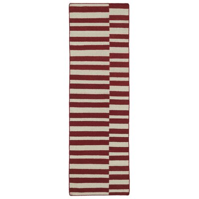 Cory Red/Tan Geometric Area Rug Rug Size: Runner 26 x 8