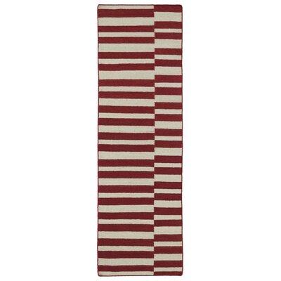 Cory Red/Tan Geometric Area Rug Rug Size: Runner 26 x 8
