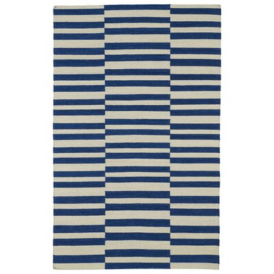 Cory Geometric Navy/Ivory Area Rug Rug Size: Rectangle 9 x 12