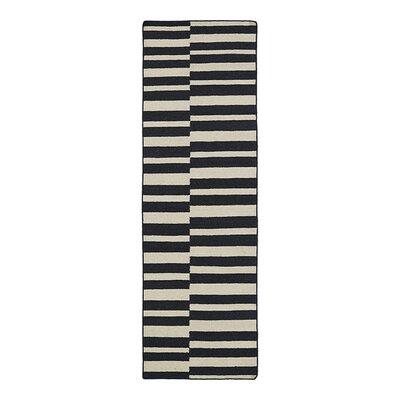 Cory Black Geometric Area Rug Rug Size: Runner 26 x 8