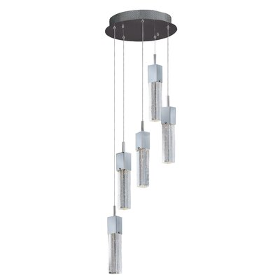 Diphda 5 LED Integrated Bulb Cascade Pendant