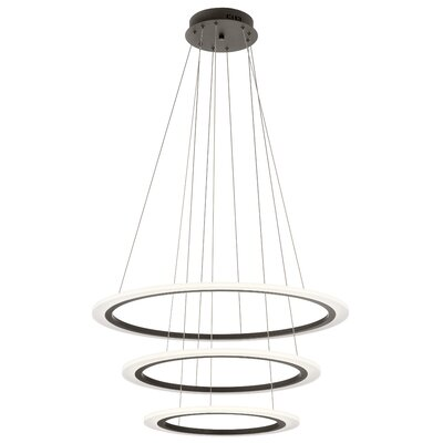 Baillie 3-Light LED Geometric Pendant