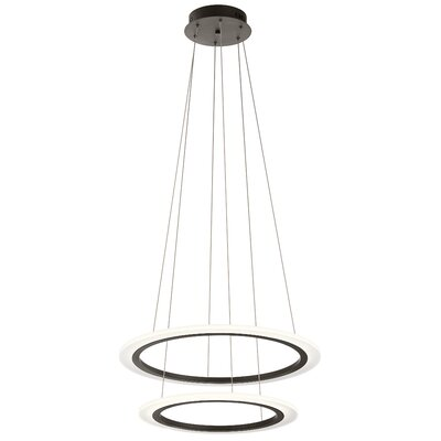 Baillie 2-Light LED Geometric Pendant