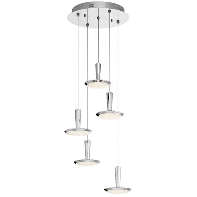 Aquilar 5-Light LED Cascade Pendant