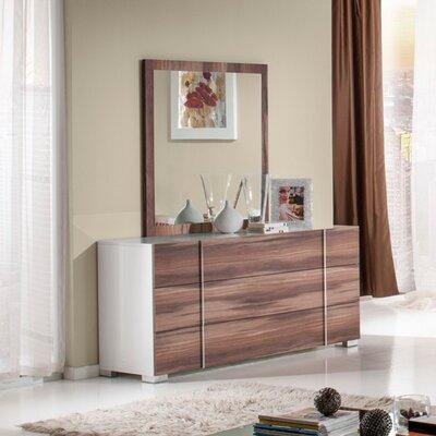 Manokwari 3 Drawer Dresser with Mirror