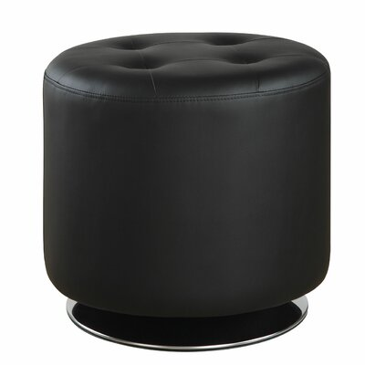 Tarpon Springs Ottoman Upholstery: Black