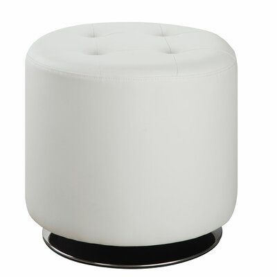 Tarpon Springs Ottoman Upholstery: White