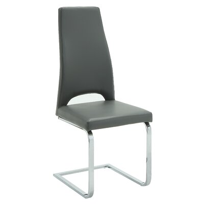 Babita Side Chair Upholstery: Charcoal Gray