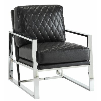 Afreena Armchair Upholstery: Black