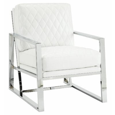 Afreena Armchair Upholstery: White