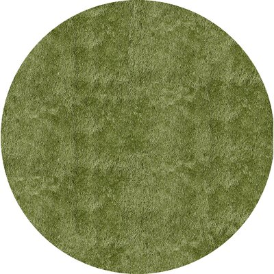 Cherree Hand-Tufted Apple Green Area Rug Rug Size: Round 4