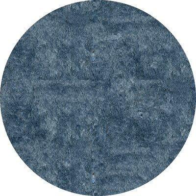 Cherree Hand-Tufted Light Blue Area Rug Rug Size: Round 4