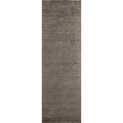 Christensen Hand-Woven Charcoal Area Rug Rug Size: Rectangle 36 x 56