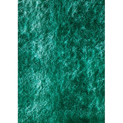 Cherree Hand-Knotted Teal Area Rug Rug Size: Rectangle 5 x 7
