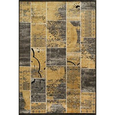Aaliyah Gold Rug Rug Size: 67 x 93