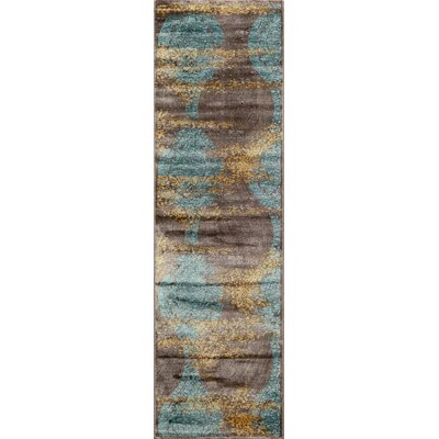 Charleena Blue Ikat Rug Rug Size: Rectangle 18 x 27