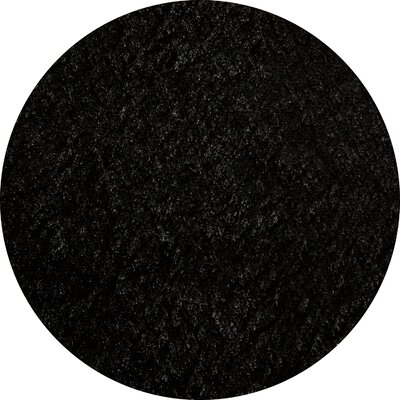 Ciera Hand-Tufted Black Area Rug Rug Size: 5 x 7