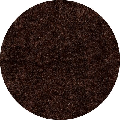 Ciera Hand-Tufted Brown Solid Area Rug Rug Size: Rectangle 5 x 7