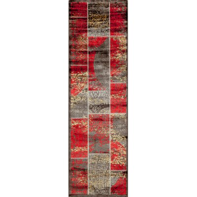 Charleena Red Geometric Area Rug Rug Size: Rectangle 67 x 93