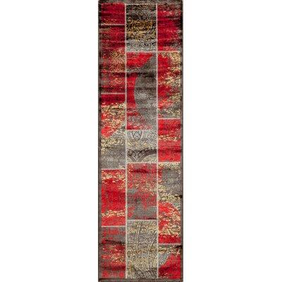 Aaliyah Red Area Rug Rug Size: 18 x 27