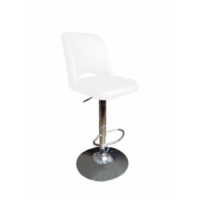 Cecilia Bar Stool Upholstery: White