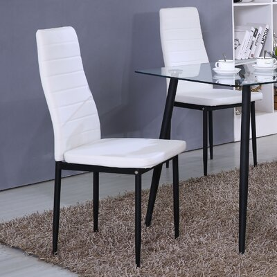 Markus Side Chair (Set of 4) Upholstery: White
