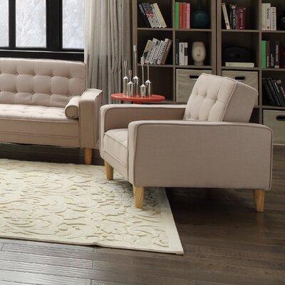 Navi Twill Armchair Upholstery: Tan