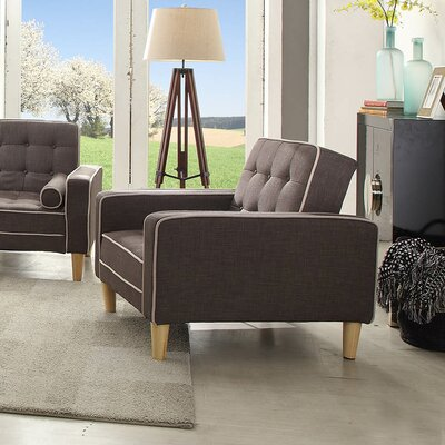 Navi Twill Armchair Upholstery: Gray