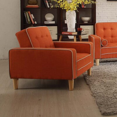 Navi Armchair Upholstery: Orange