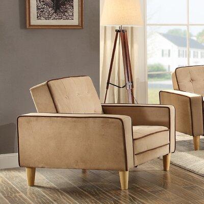 Derek Twill Arm Chair Upholstery: Saddle