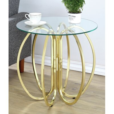 Mila End Table Finish: Brushed Brass
