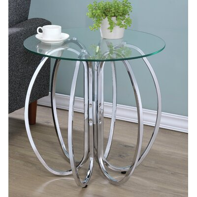 Isadora End Table Color: Chrome