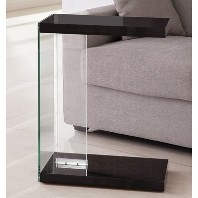 Khloe End Table Finish: Glossy Black