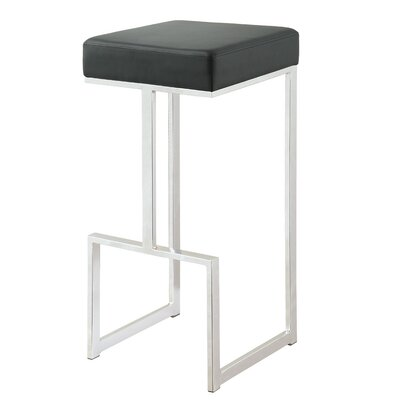Eleanor 31 Bar Stool Upholstery: Black