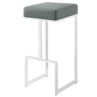 Dzu 31 Bar Stool Upholstery: Gray