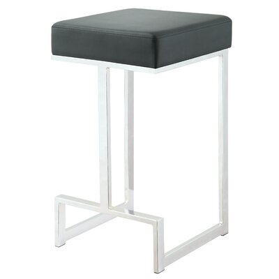 Trinity 25 Bar Stool Upholstery: Black