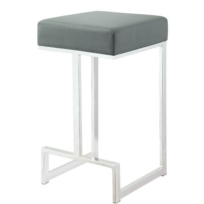 Trinity 25 Bar Stool Upholstery: Gray