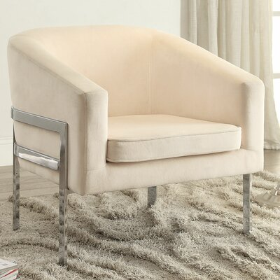 Jereme Barrel Chair Upholstery: Beige