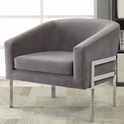 Jereme Barrel Chair Upholstery: Gray