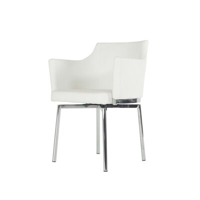 Clower Tufted Modern Arm Chair Upholstery: White