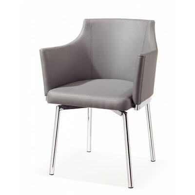 Clower Tufted Modern Arm Chair Upholstery: Grey