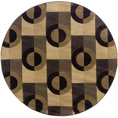 Jennie Brown/Beige Geometric Area Rug Rug Size: Rectangle 53 x 79