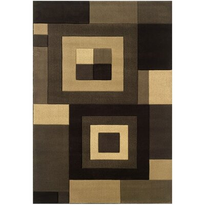 Jennie Brown/Beige Area Rug Rug Size: Rectangle 53 x 79