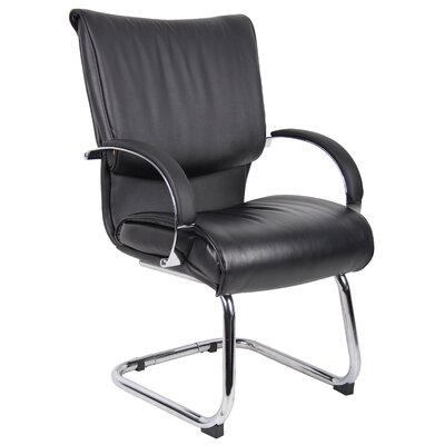 Chairez Leather Guest Chair Finish: Black