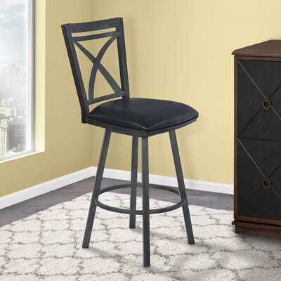 Ramon 30 inch Swivel Bar Stool with Cushion Finish: Mineral