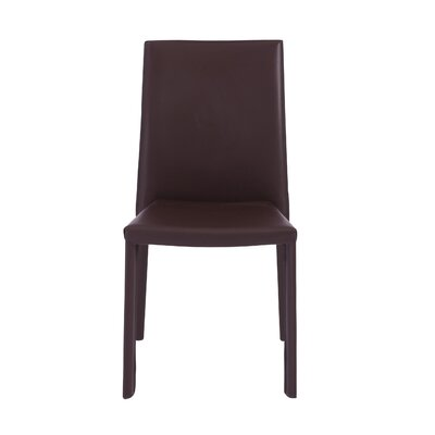 Bronzeville Side Chair (Set of 4) Upholstery: Brown